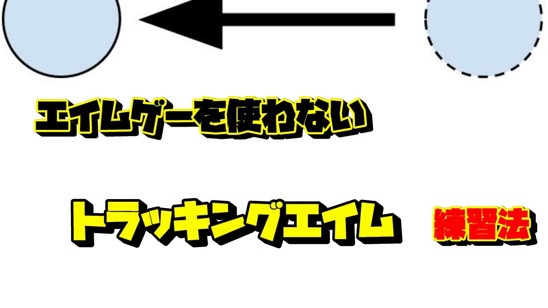エイムゲーを使わないトラッキング(追いエイム)練習法【PS4,switch,スマホ対応】